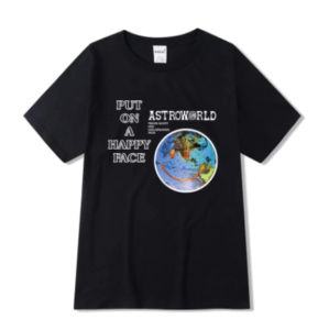 Astroworld Put on a Happy Face Shirt Front